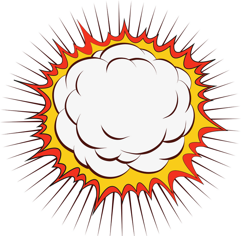 Explosion clipart for free