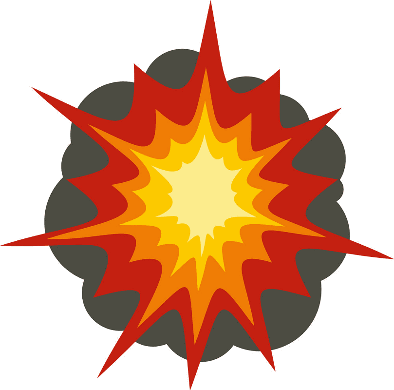 Explosion clipart free for kids
