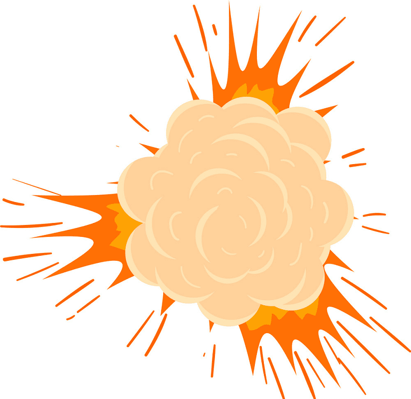 Explosion clipart image