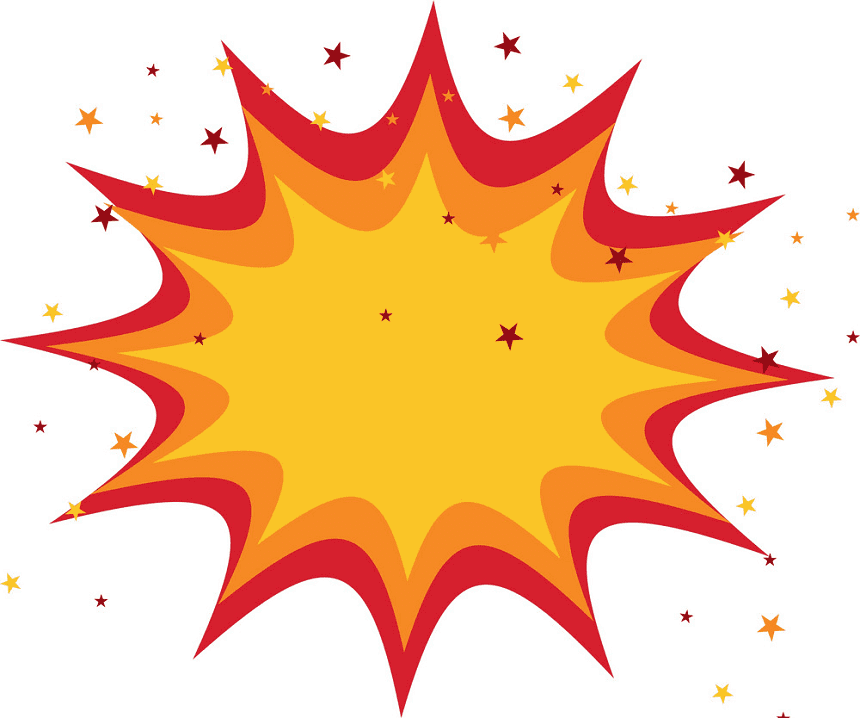 Explosion clipart png 5
