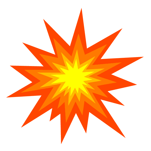 Explosion clipart png for kids