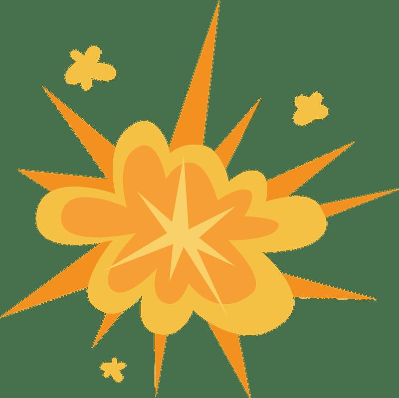Explosion clipart transparent 4