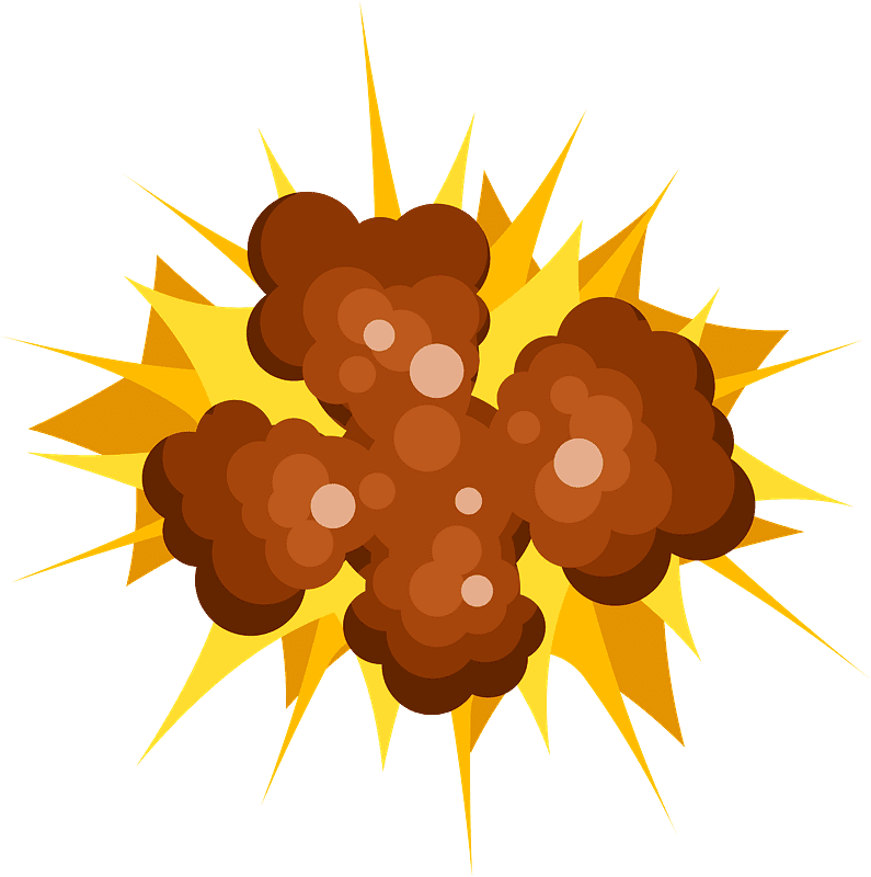 Explosion clipart transparent 5