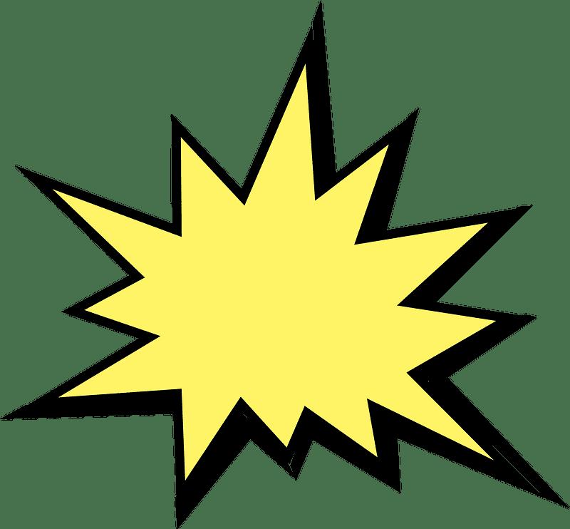 Explosion clipart transparent 9
