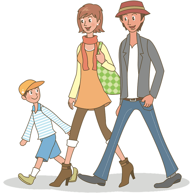 Family Walking clipart transparent