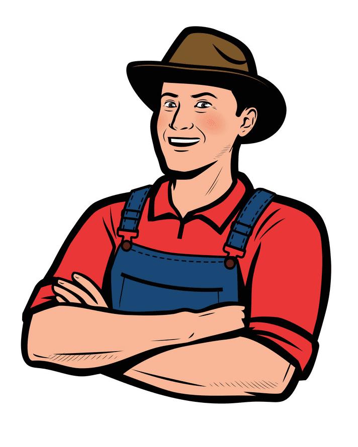 Farmer clipart 1