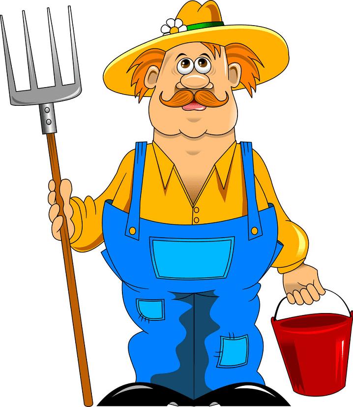 Farmer clipart for free