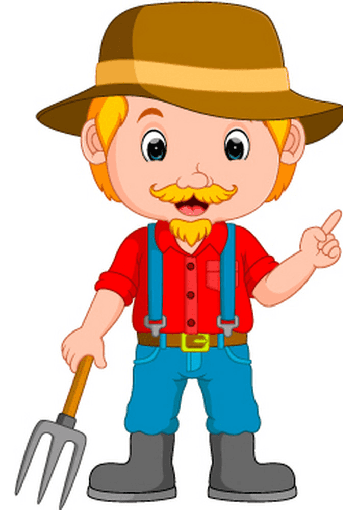 Farmer clipart for kids
