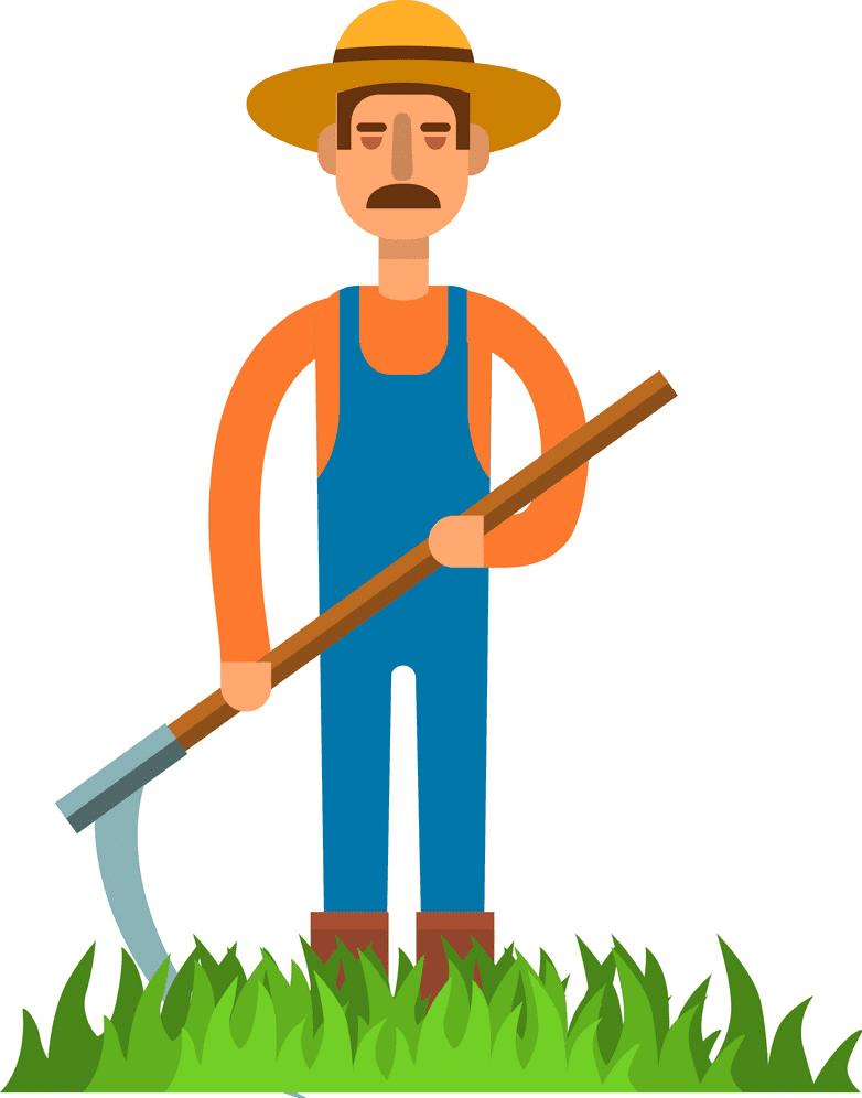 Farmer clipart free image