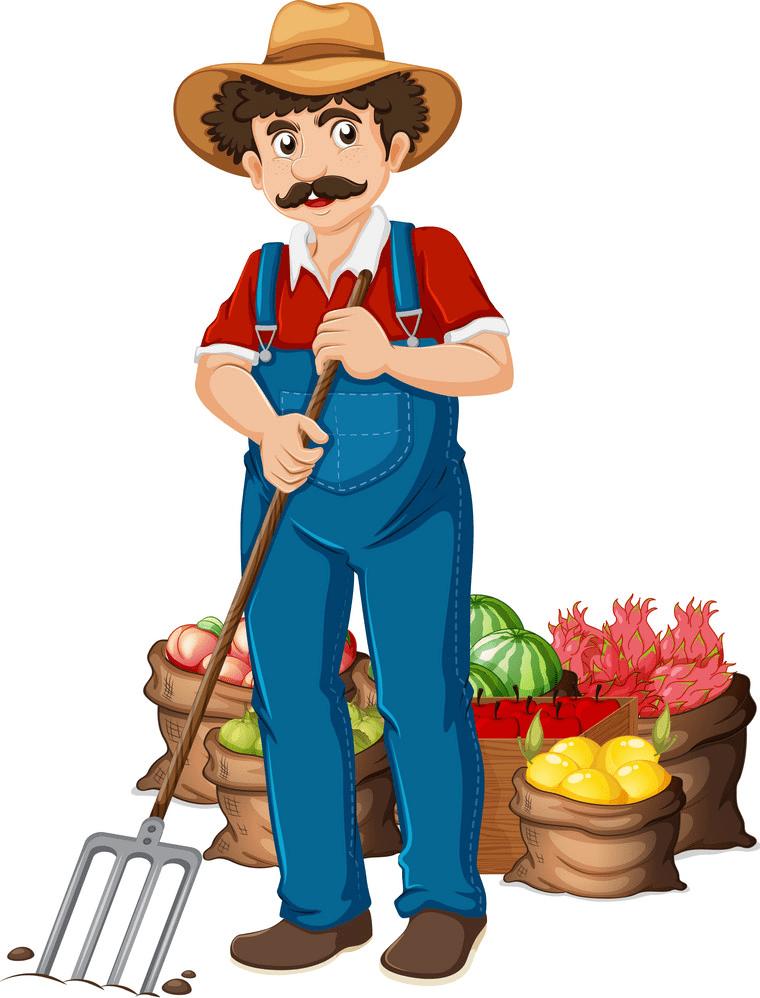 Farmer clipart free