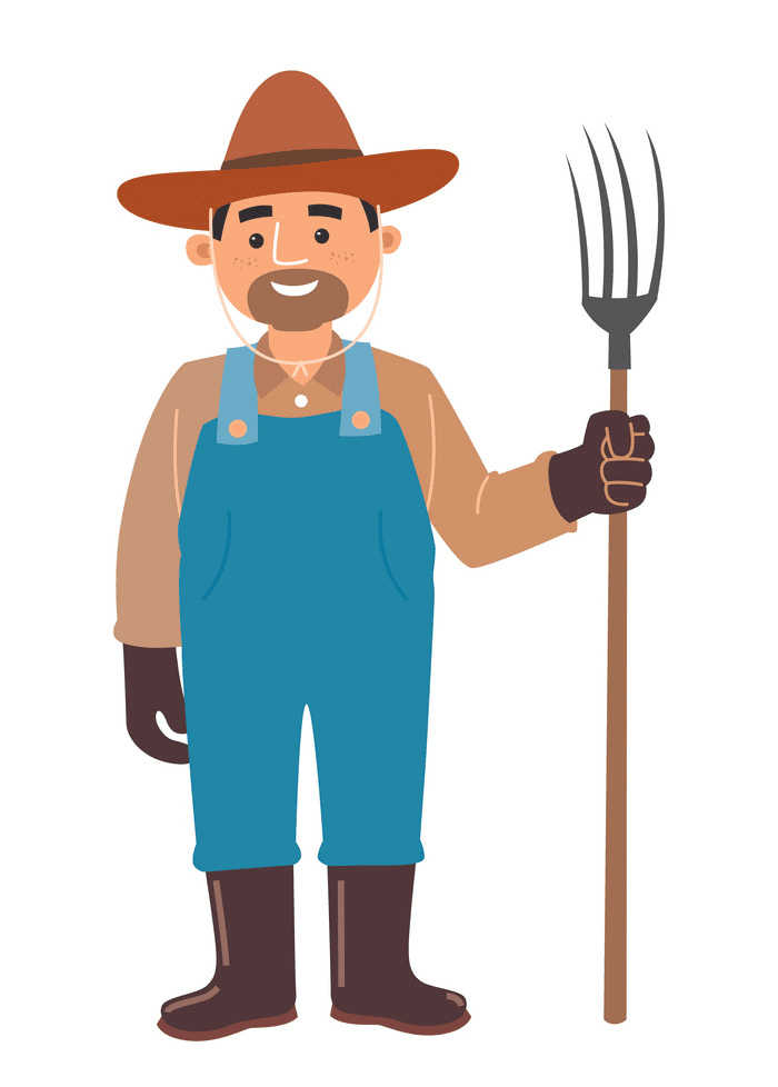 Farmer clipart image