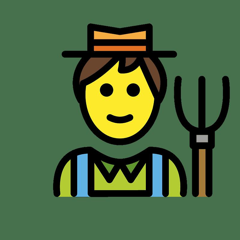 Farmer clipart transparent 4