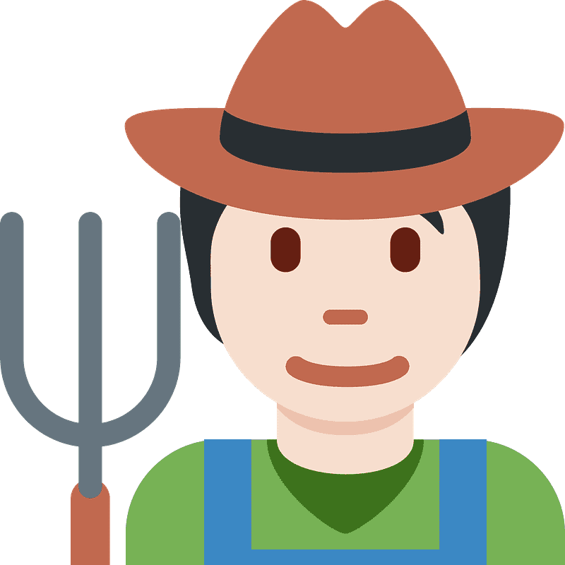 Farmer clipart transparent 7