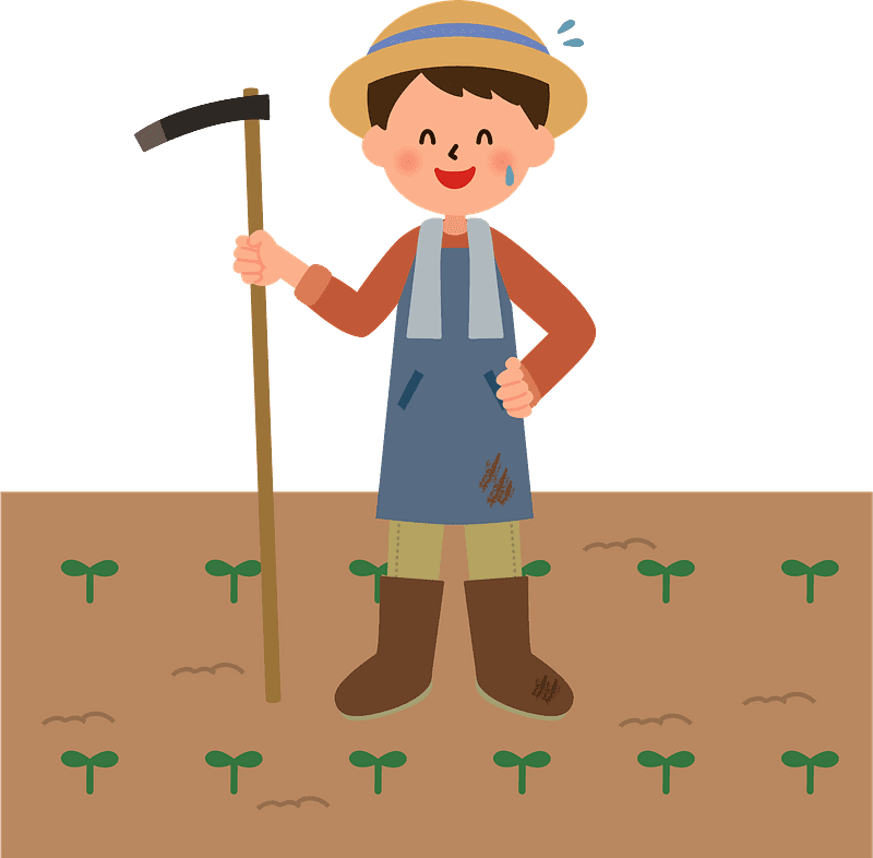Farmer clipart transparent background 4