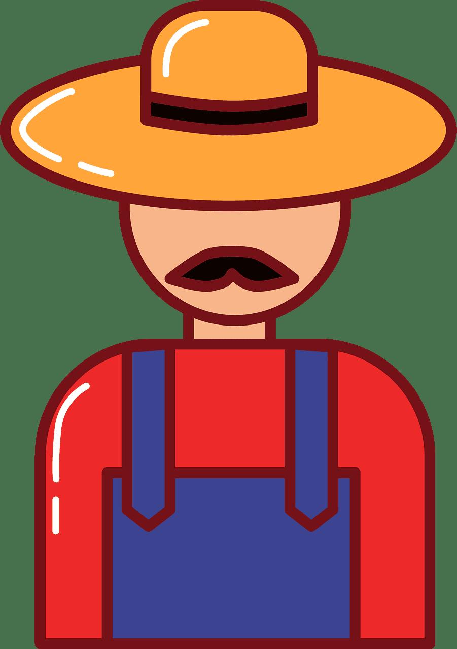 Farmer clipart transparent free