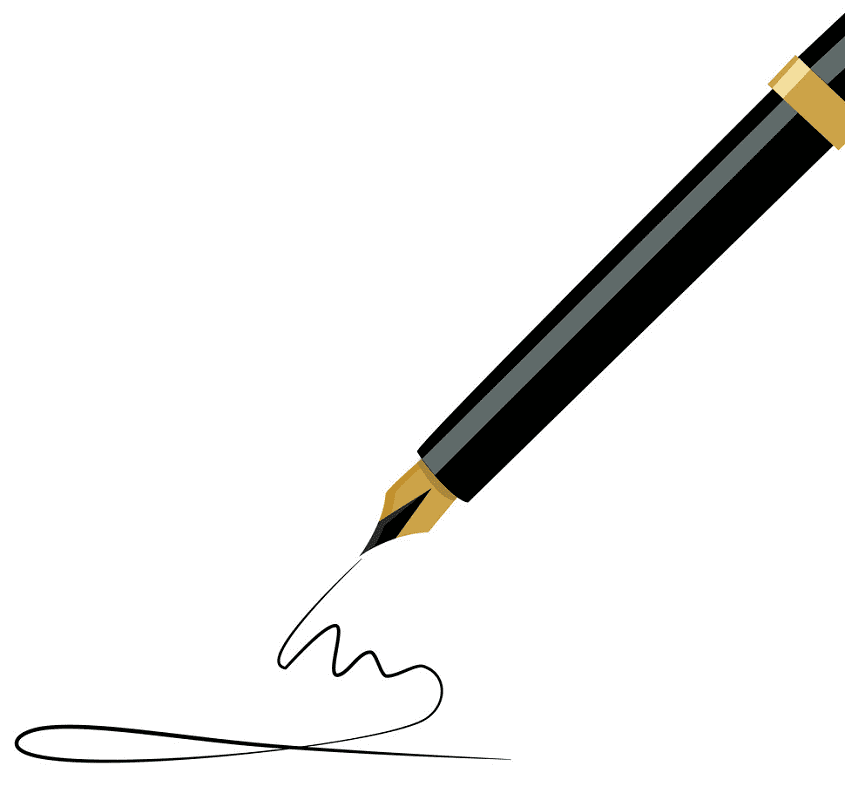 Fountain Pen clipart for kids