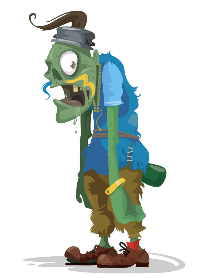 Free Zombie clipart for kid