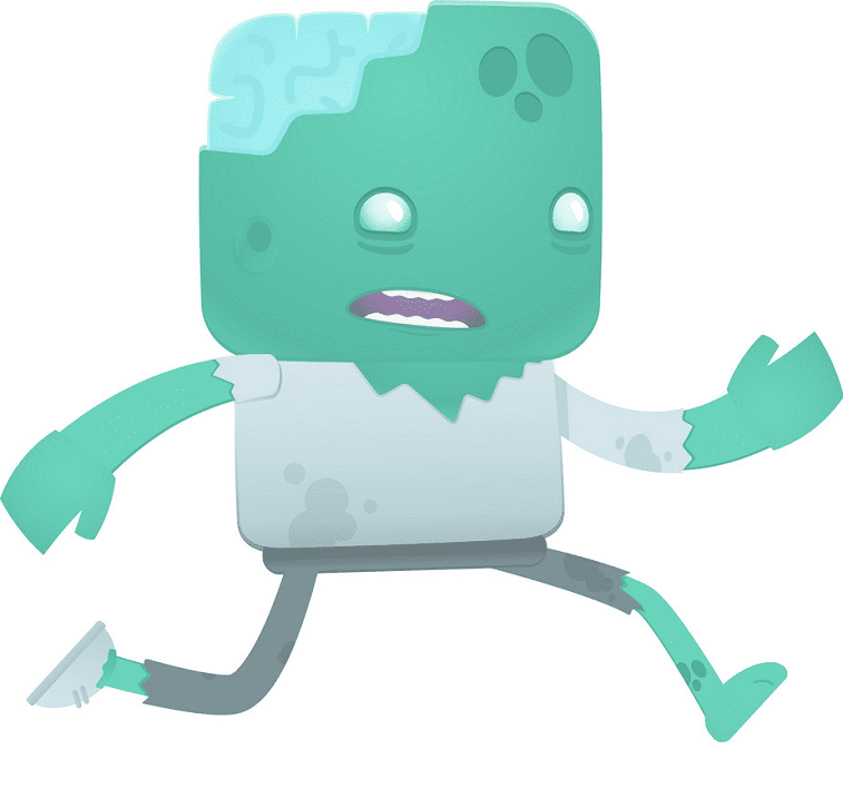 Free Zombie clipart for kids