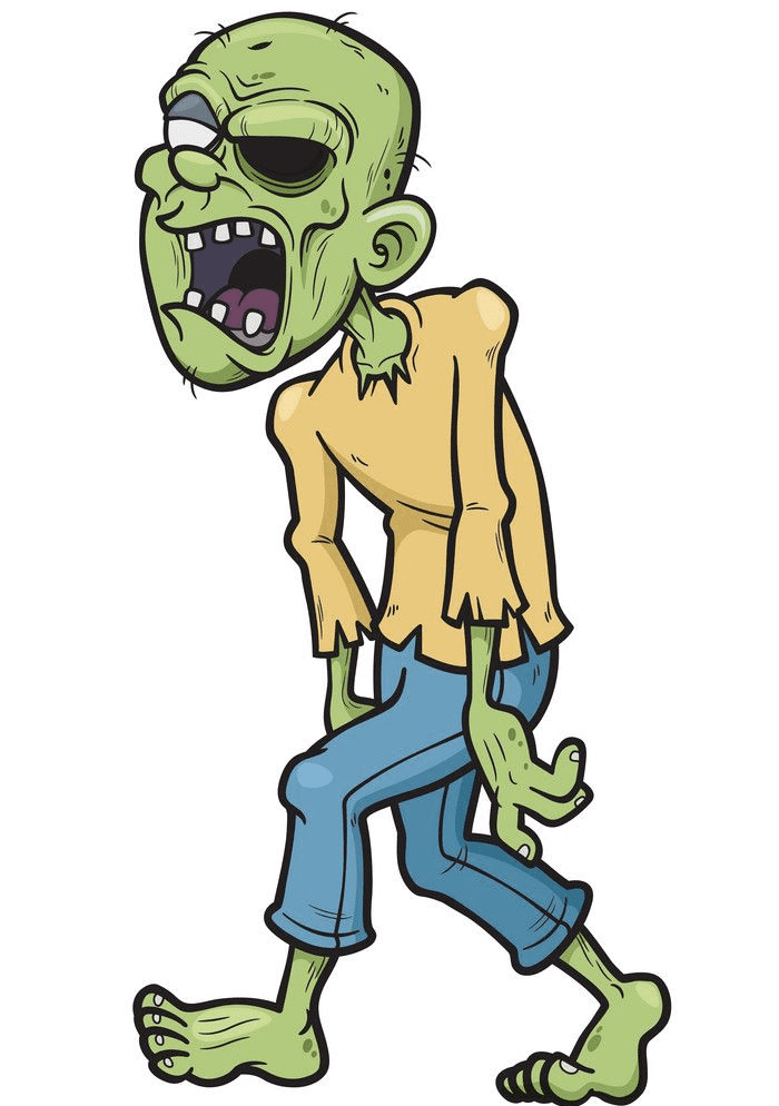 Free Zombie clipart picture
