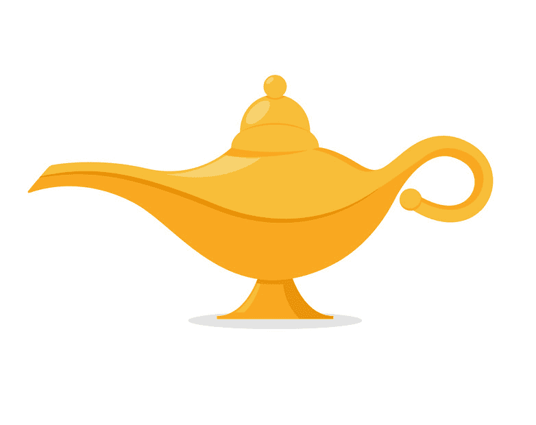 Genie Lamp clipart for free