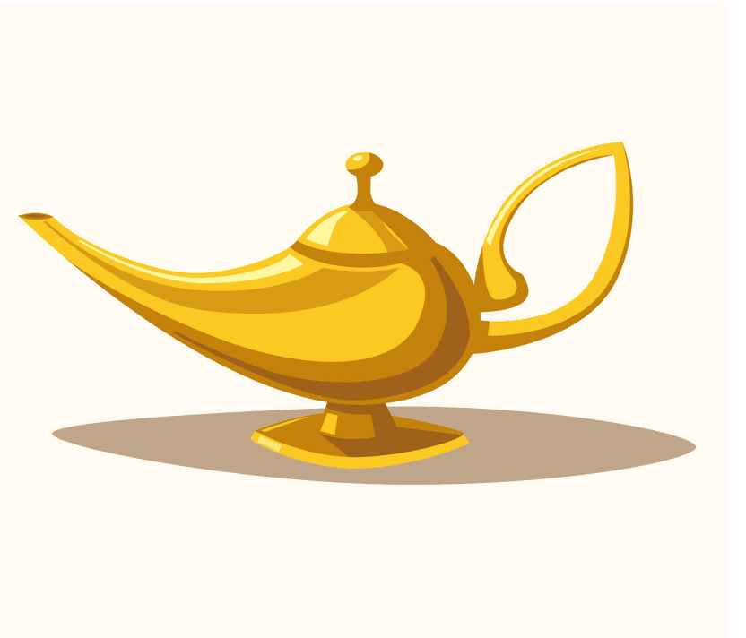 Genie Lamp clipart for kid