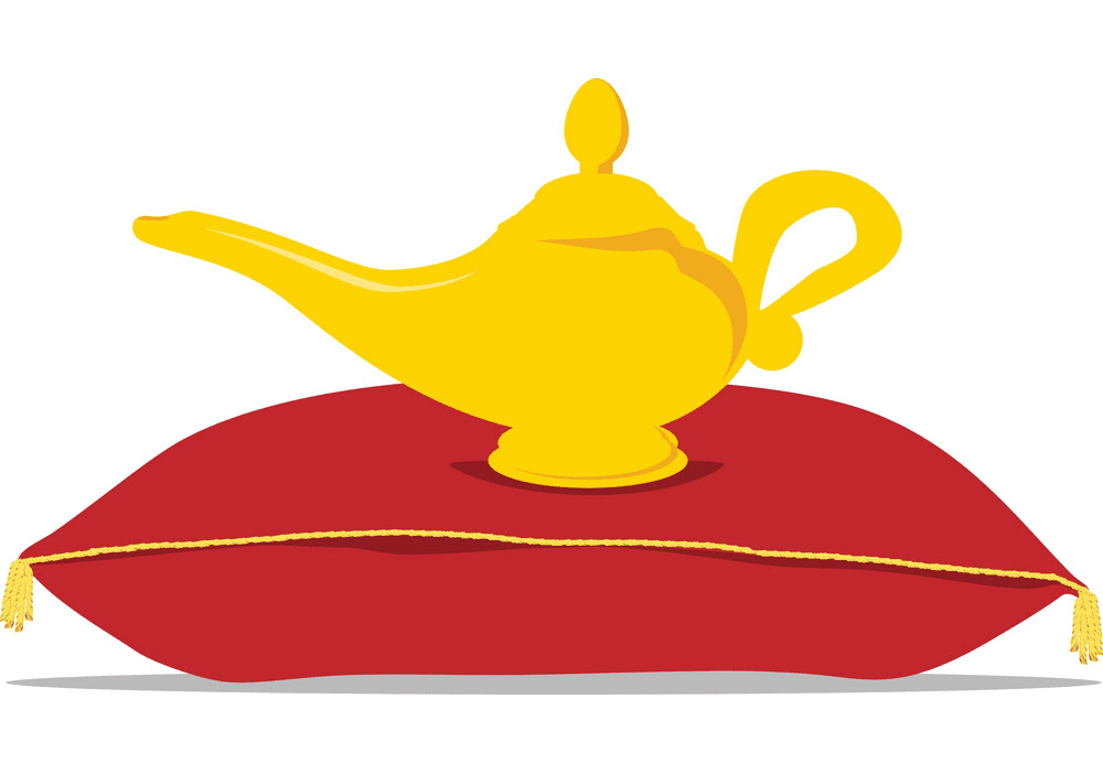 Genie Lamp clipart for kids