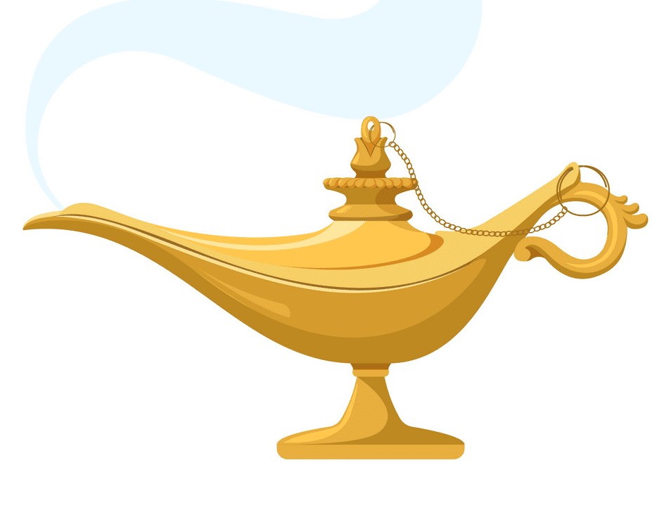 Genie Lamp clipart free