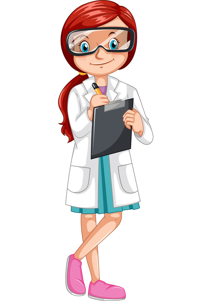 Girl Scientist clipart for free