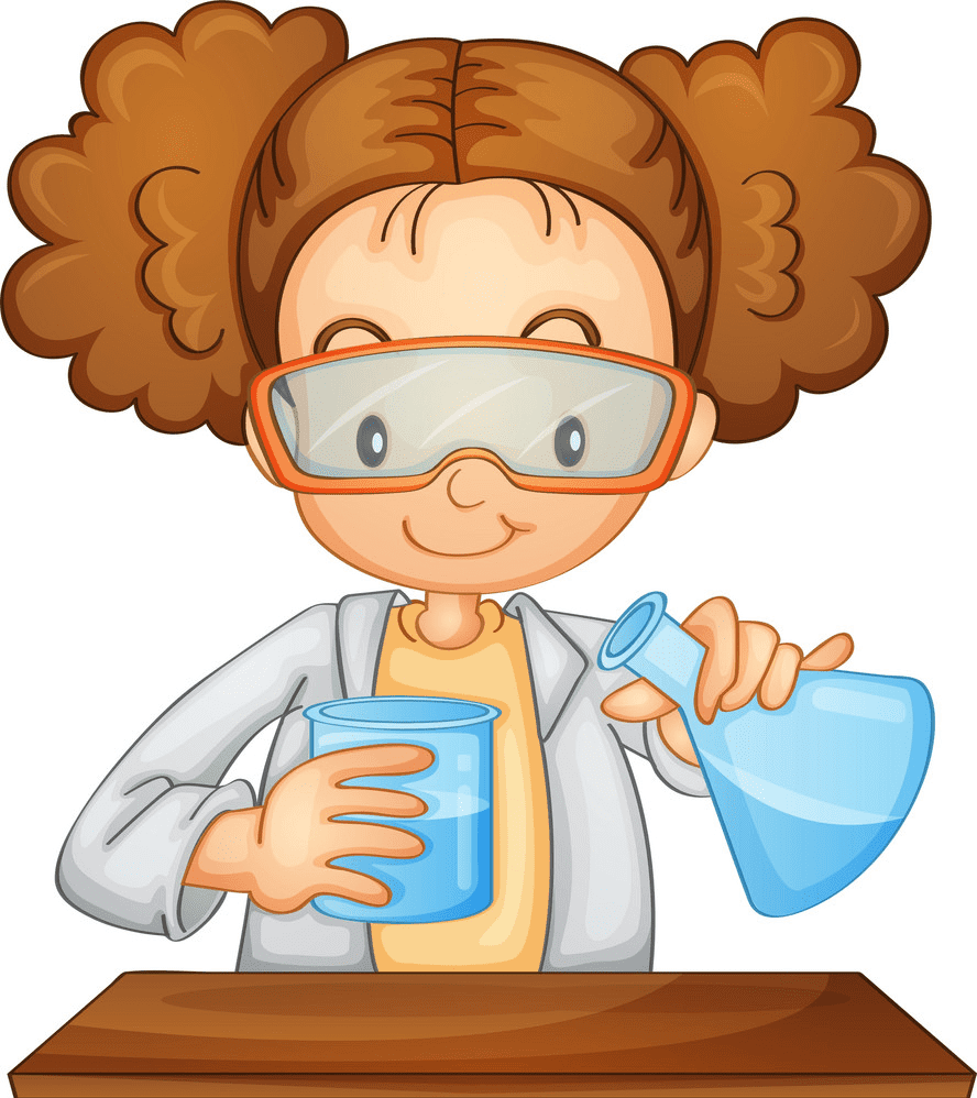 Girl Scientist clipart free
