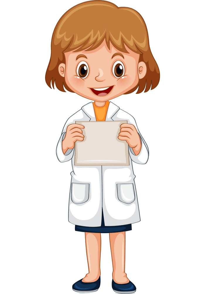 Girl Scientist clipart image