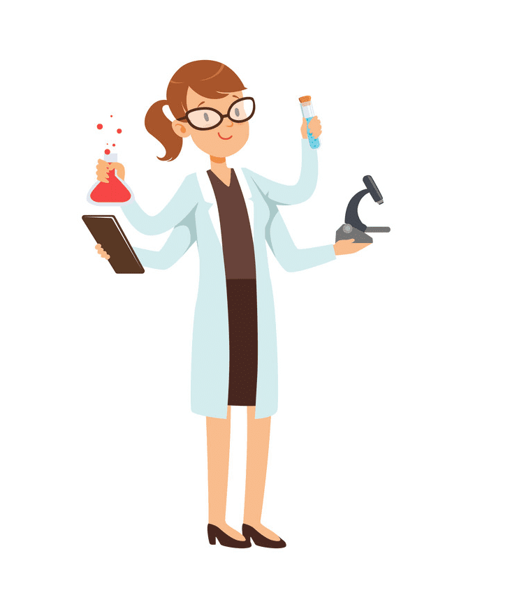 Girl Scientist clipart png download
