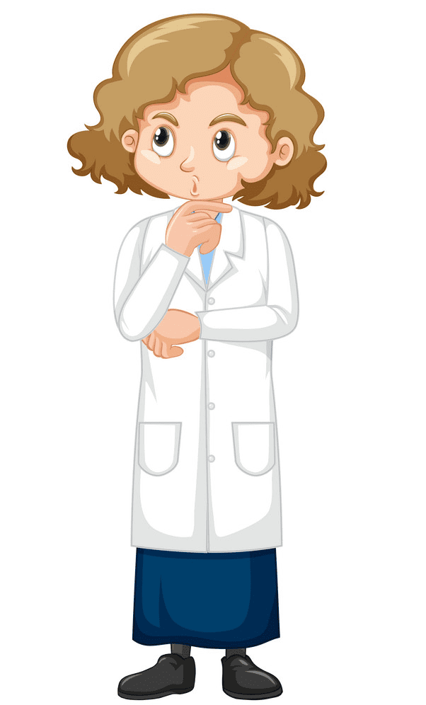 Girl Scientist clipart png free