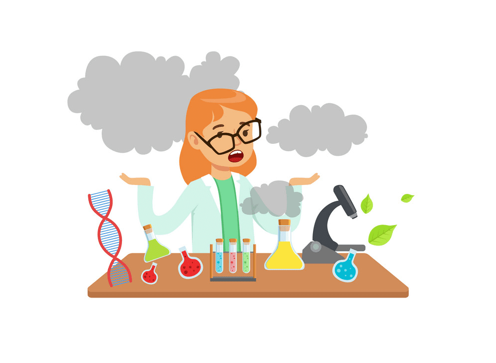 Girl Scientist clipart png image