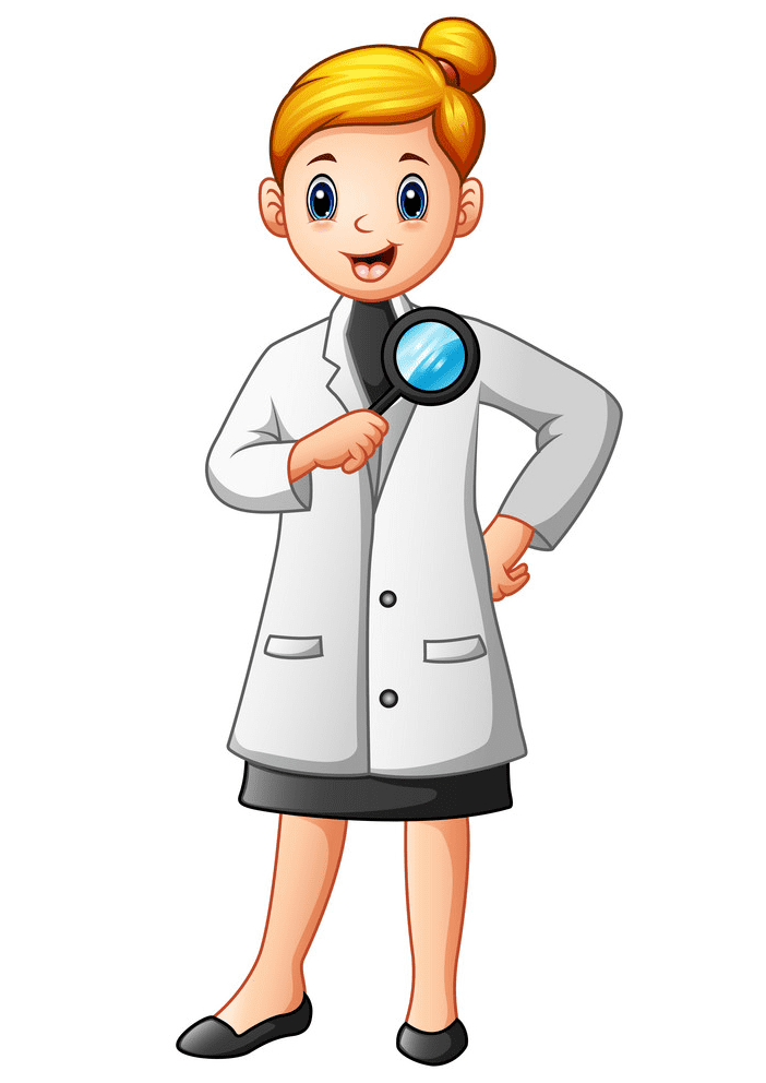 Girl Scientist clipart png images