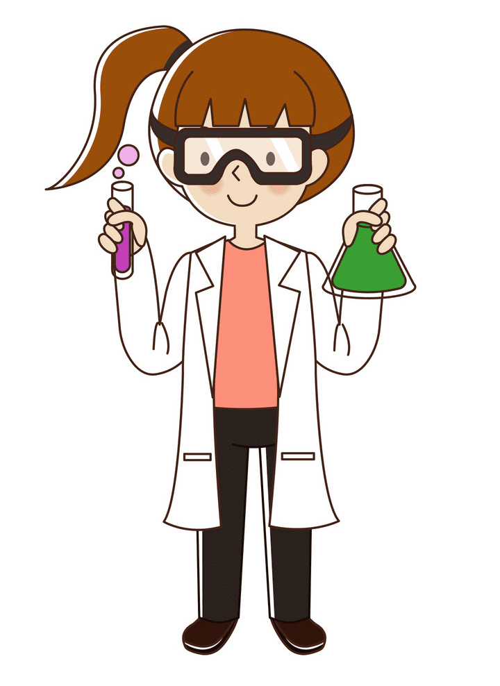Girl Scientist clipart png picture