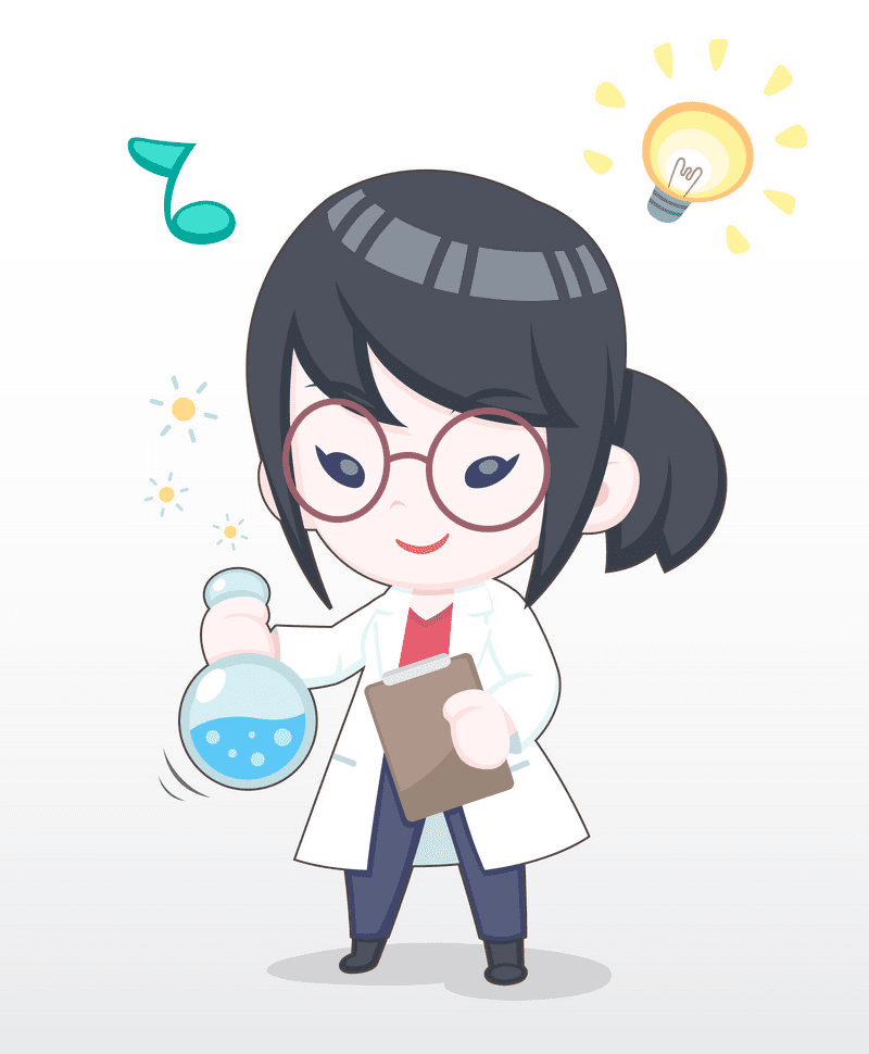 Girl Scientist clipart png