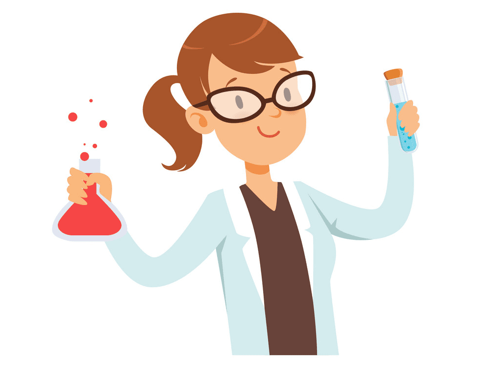 Girl Scientist clipart