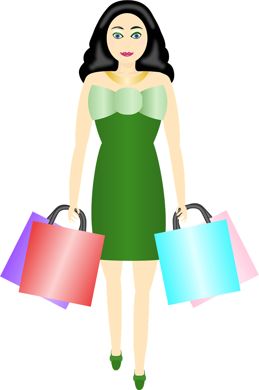 Girl Shopping clipart transparent image
