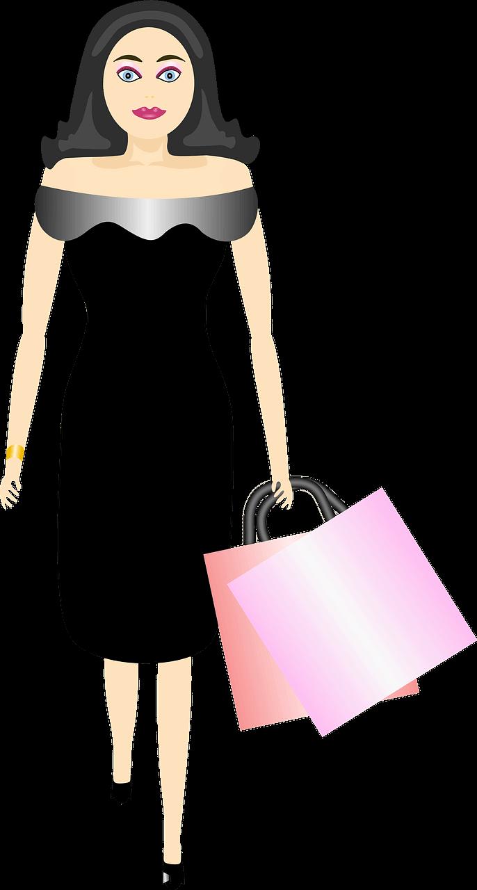 Girl Shopping clipart transparent