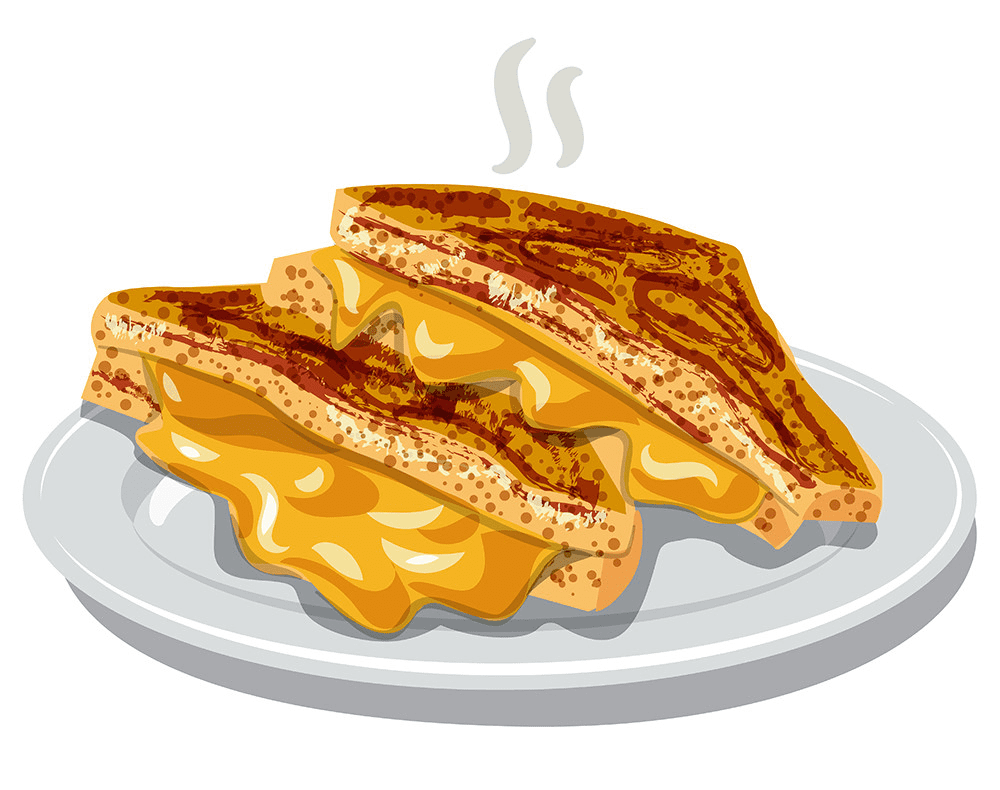 Grilled Cheese Sandwich clipart free