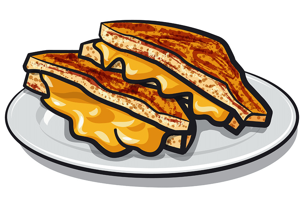 Grilled Cheese Sandwich clipart