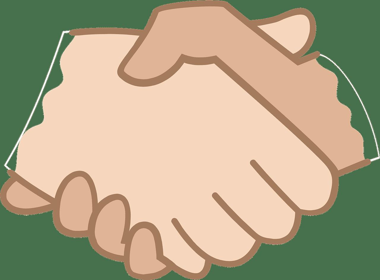 Handshack clipart transparent free