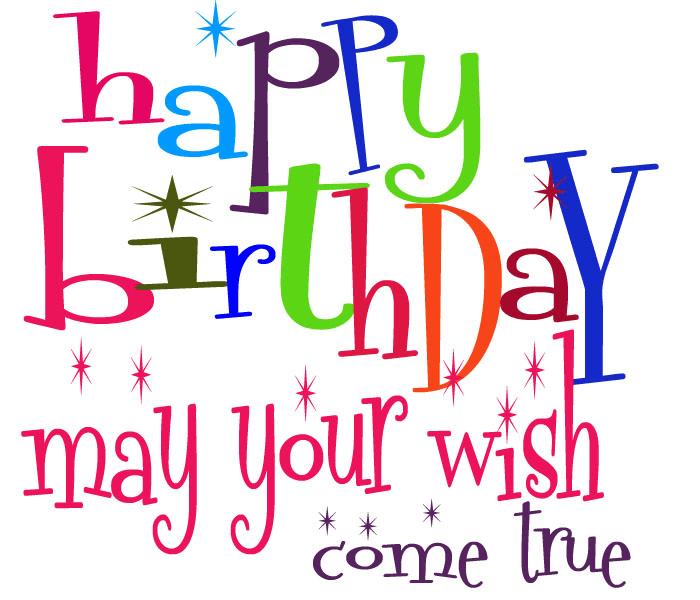 Happy Birthday Wishes clipart free