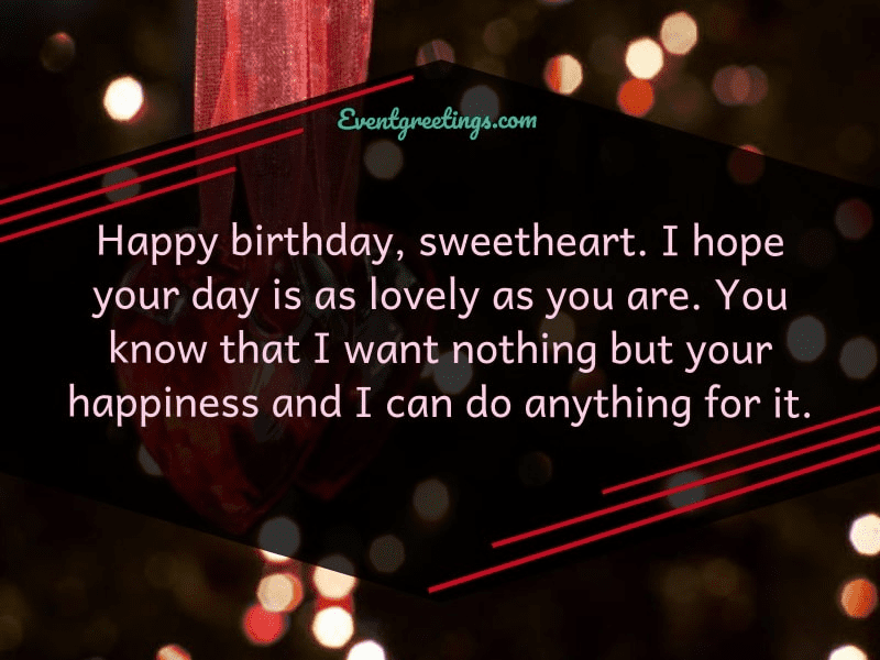 Happy Birthday Wishes for sweetheart
