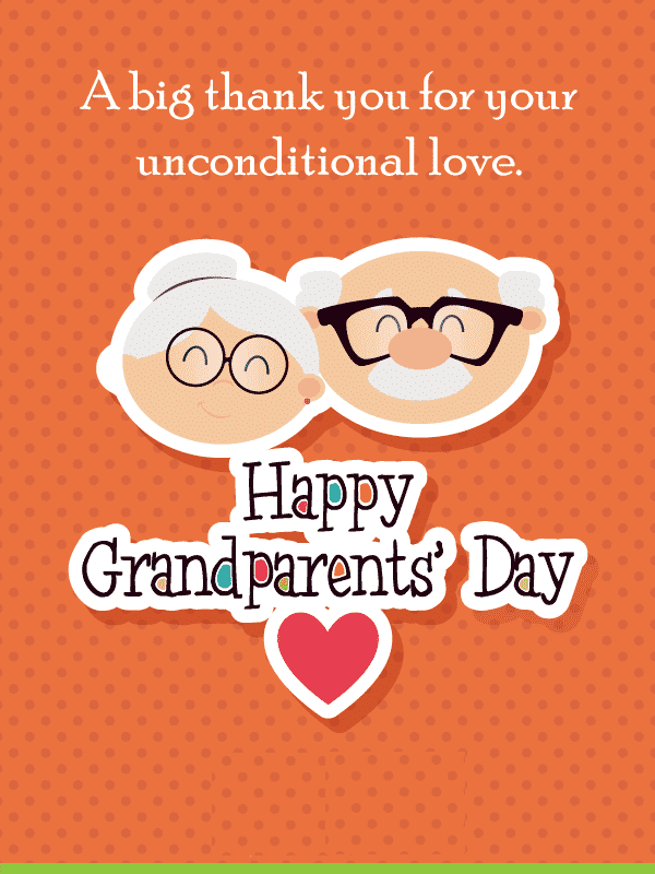 Happy Grandparents' Day Wishes png 1