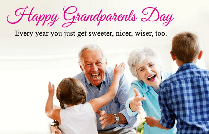 Happy Grandparents' Day Wishes png 2