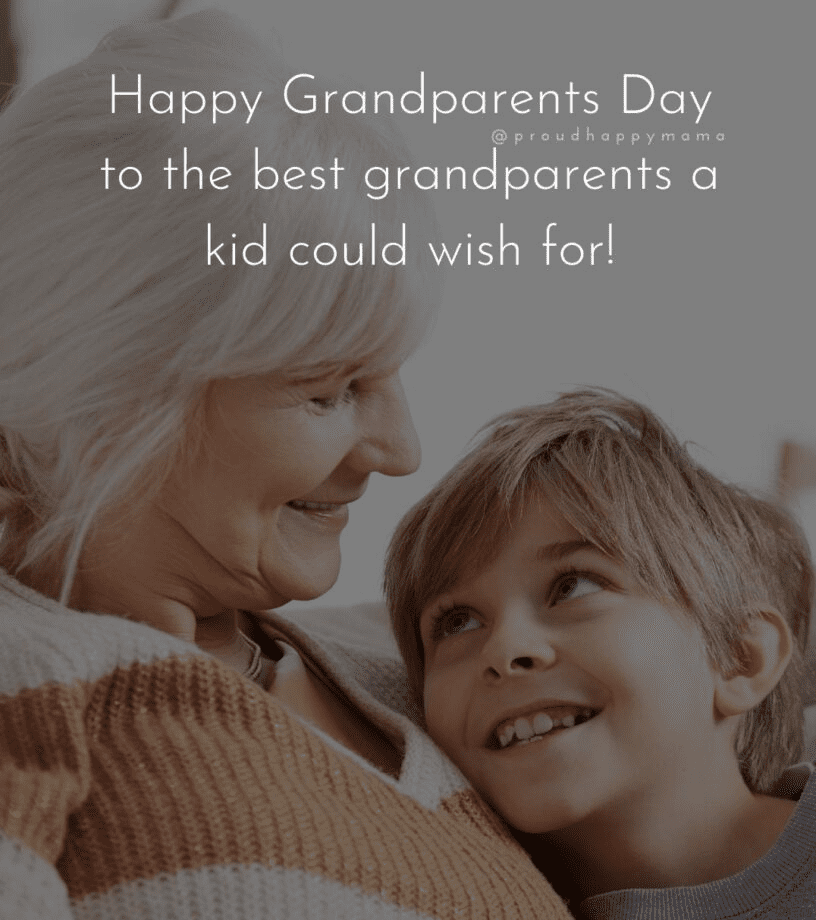 Happy Grandparents' Day Wishes png 3