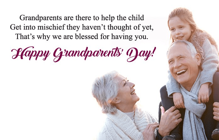 Happy Grandparents' Day Wishes png 6