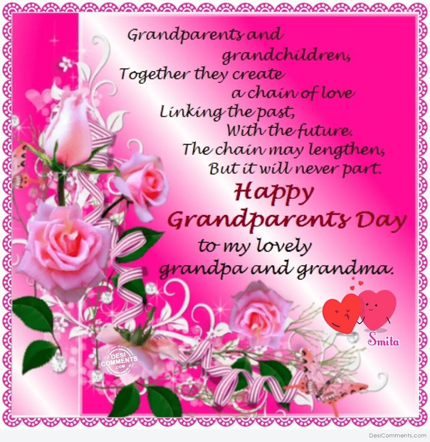 Happy Grandparents' Day Wishes png 7