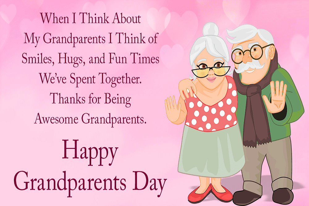 Happy Grandparents' Day Wishes png 8